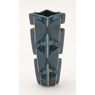Unique Blue and Gold Ceramic Table Vase
