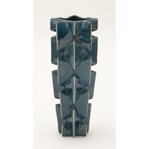 Blue and Gold Ceramic Vase