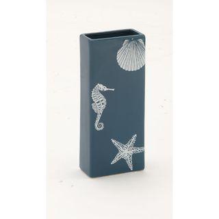 Blue Ceramic Rectangle Vase