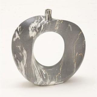 Grey Marble Ceramic Vase