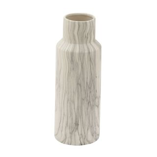 Chic Ceramic White Marble Vase