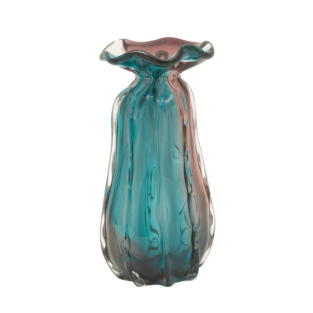 Blue Glass Decorative Table Vase
