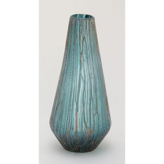 Magnificent Glass Drip Teal Vase