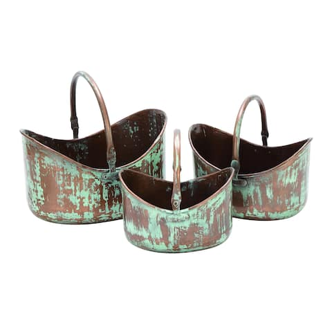 The Gray Barn Edgar Metal Patio Accent Planters (Set of 3)