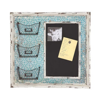 Blue and Black Wood wih White Frame Memo Board