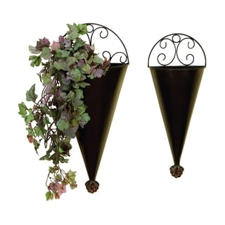 S/2 Portable Plantation Decor Metal Wall Planter