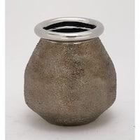 Carson Carrington Alavus Stylish Silver Ceramic Vase