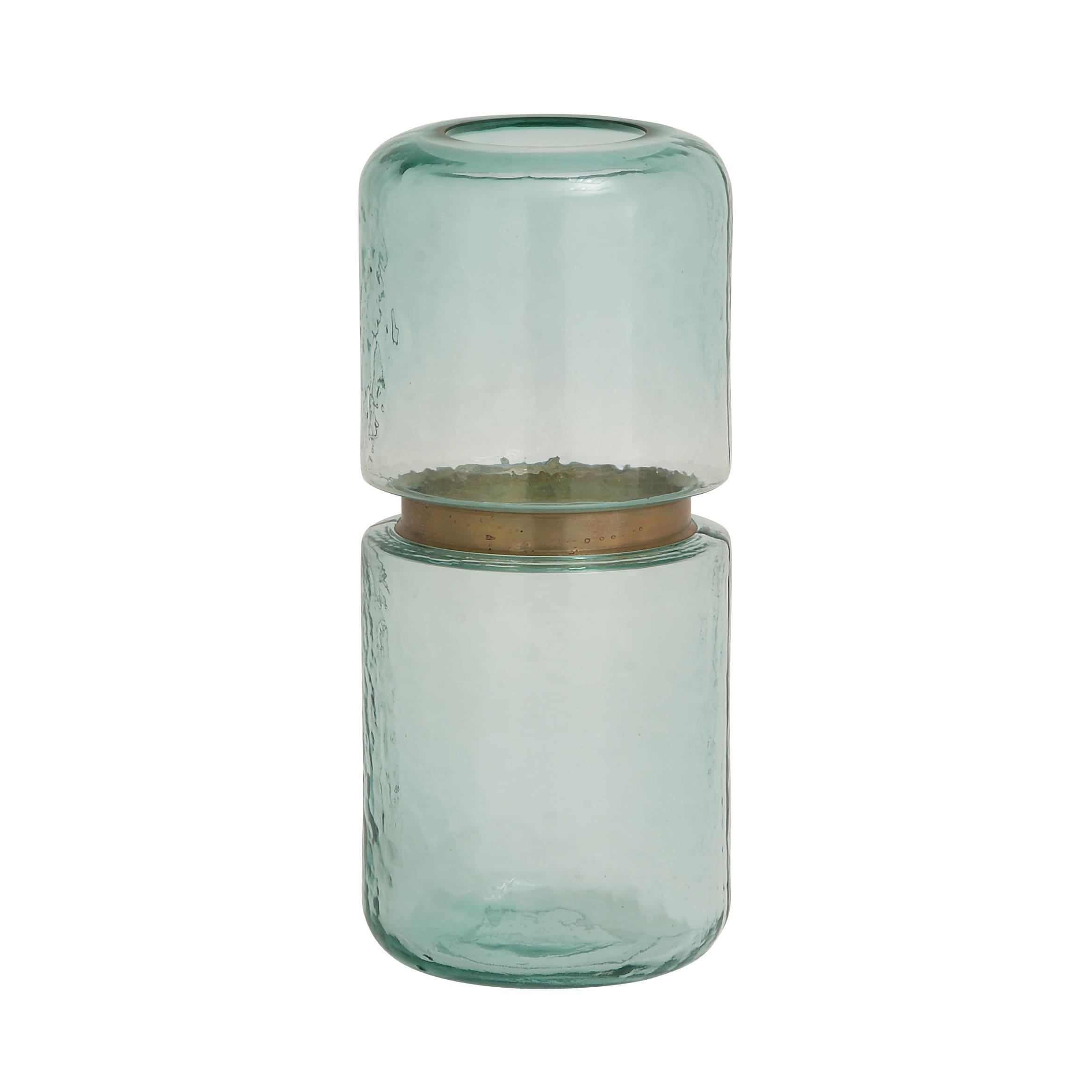 Multicolor Glass Patterned Tabletop Vase (Vase)
