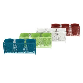 Unique Adorable Metal 20-inch x 7-inch x 8-inch Set of 4 Planter Stands