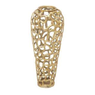 Aluminum Decorative Gold Vase