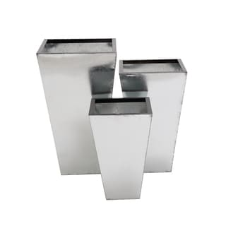 Brushed Mirror Metal Planters (Set of 3)