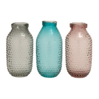 Glass 3-piece Assorted Vases