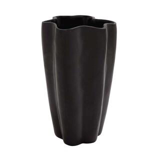 Black Polystone Vase