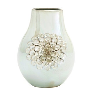 Traditional Pearl Finish Ceramic Vase