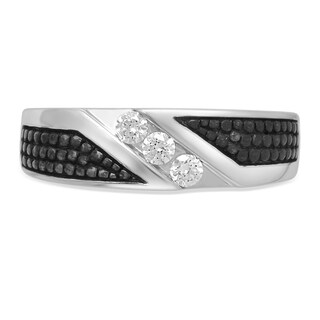Unending Love 10k Gold Diamond Wedding Band - White