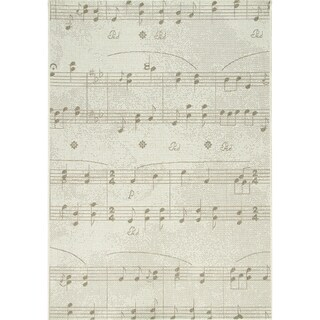 Avenue Sheet Music Flatweave Rug (5'3 x 7'7)