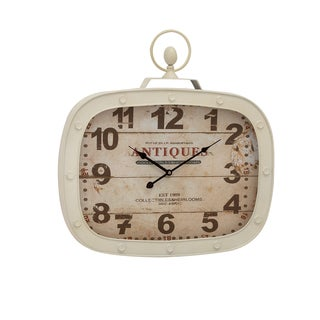 Antique-style Metal Wall Clock