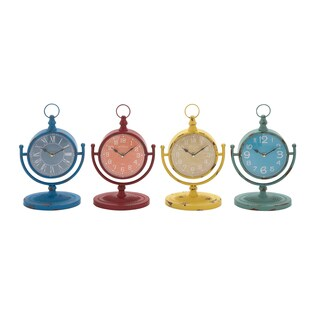 4 Assorted Metal Desk Clocks