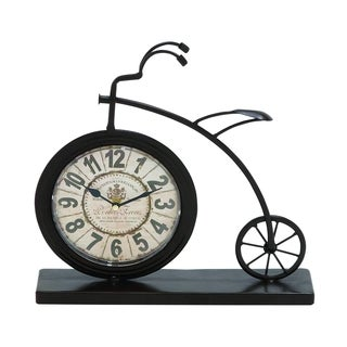 Brown Metal High-wheel Bicycle Desk Clock