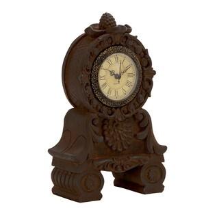 Vintage-style Brown Ceramic Table Clock