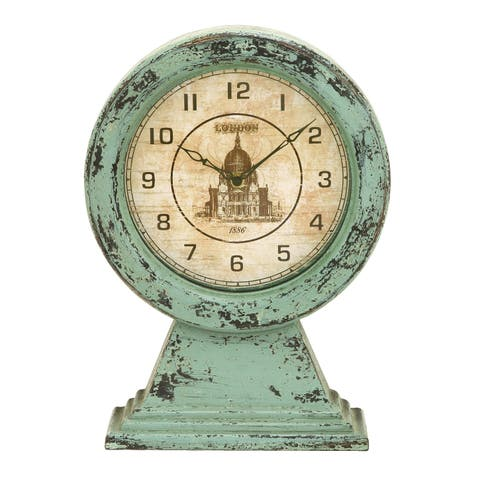 The Curated Nomad Jiminez Old Look London Themed Tabletop Clock