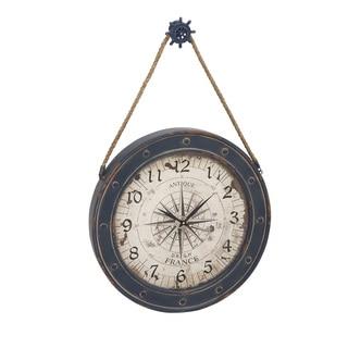 Metal and Wood Wall Clock