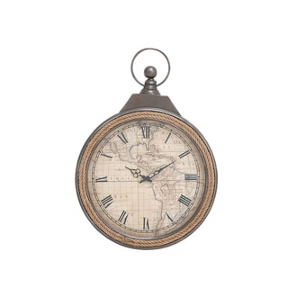 Antique-style Metal Rowall Wall Clock