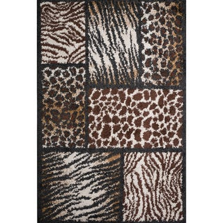 Christopher Knight Home Rose Tamia Brown Animal Print Frieze Rug (5' x 8')