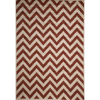 Christopher Knight Home Rosemary Sal Indoor/Outdoor Chevron Frieze Rug (8' x 10')