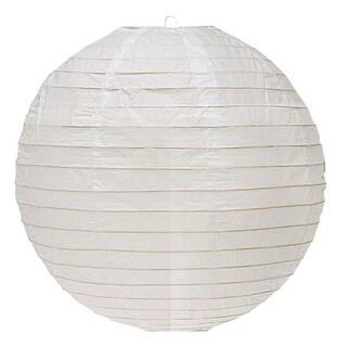 16-inch White Round Paper Lantern - (10 Pack)