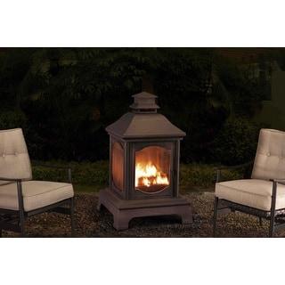 Sunjoy 110504004 48-inch Steel Lantern-style Fireplace