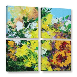 Allan Friedlander's 'Alnwick Garden' 4-piece Gallery Wrapped Canvas Square Set
