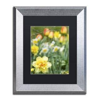 Kurt Shaffer 'Double Headed Daffodil' Matted Framed Art