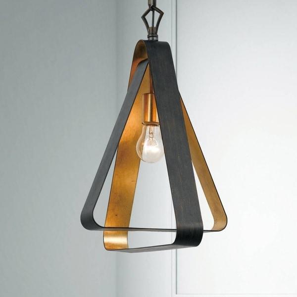 1-light English Bronze/Antique Gold Chandelier