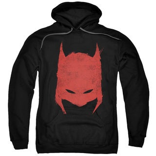Batman/Hacked Scratched Adult Pull-Over Hoodie in Black