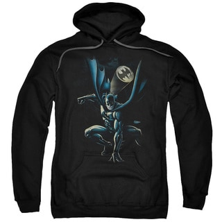 Batman/Calling All Bats Adult Pull-Over Hoodie in Black