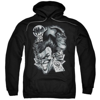 Batman/Archenemies Adult Pull-Over Hoodie in Black