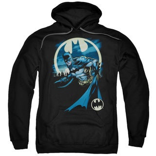 Batman/Heed The Call Adult Pull-Over Hoodie in Black