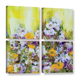 Allan Friedlander's 'Bois De Vincennes Garden' 4-piece Gallery Wrapped Canvas Square Set