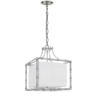 Crystorama Libby Langdon Masefield Collection 4-light Antique Silver Chandelier