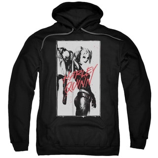 Batman/Inked Quinn Adult Pull-Over Hoodie in Black