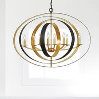 8-light English Bronze/Antique Gold Chandelier