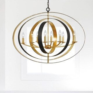 Crystorama Luna Collection 8-light English Bronze/Antique Gold Chandelier