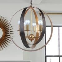 6-light English Bronze/Antique Gold Chandelier