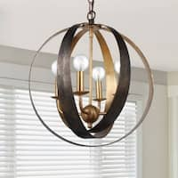 Crystorama Luna Collection 4-light English Bronze/Antique Gold Chandelier