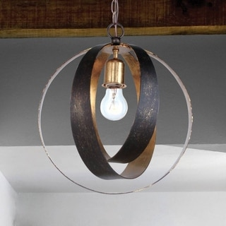 Crystorama Luna Collection 1-light English Bronze/Antique Gold Chandelier