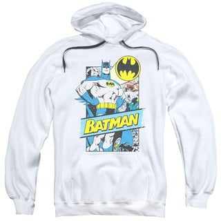 Batman/Out Of The Pages Adult Pull-Over Hoodie in White