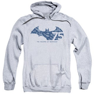 Batman/75 Year Collage Adult Pull-Over Hoodie in Athletic Heather