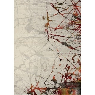 Stella Grey/ Multi Splatter Rug (5'3 x 7'7)