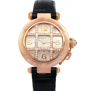 Pre-owned Cartier 18-karat Rose Gold Pasha Watch